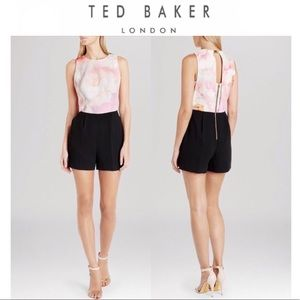 TED BAKER floral rose cinese playsuit romper NWT